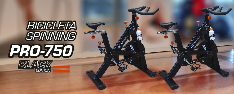 Bicicleta Spinning Profitness PRO-750 Black Edition