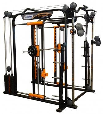 Musculação - Barra Guiada 2D com Cross Over Funcional - PL-052